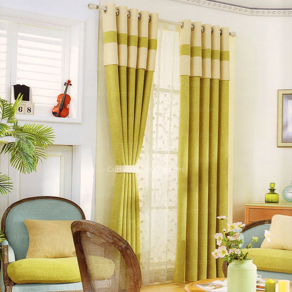Modern Curtains For Bedroom Green Linen Simple Modern Curtains Bedroom Window Curtains In 2019