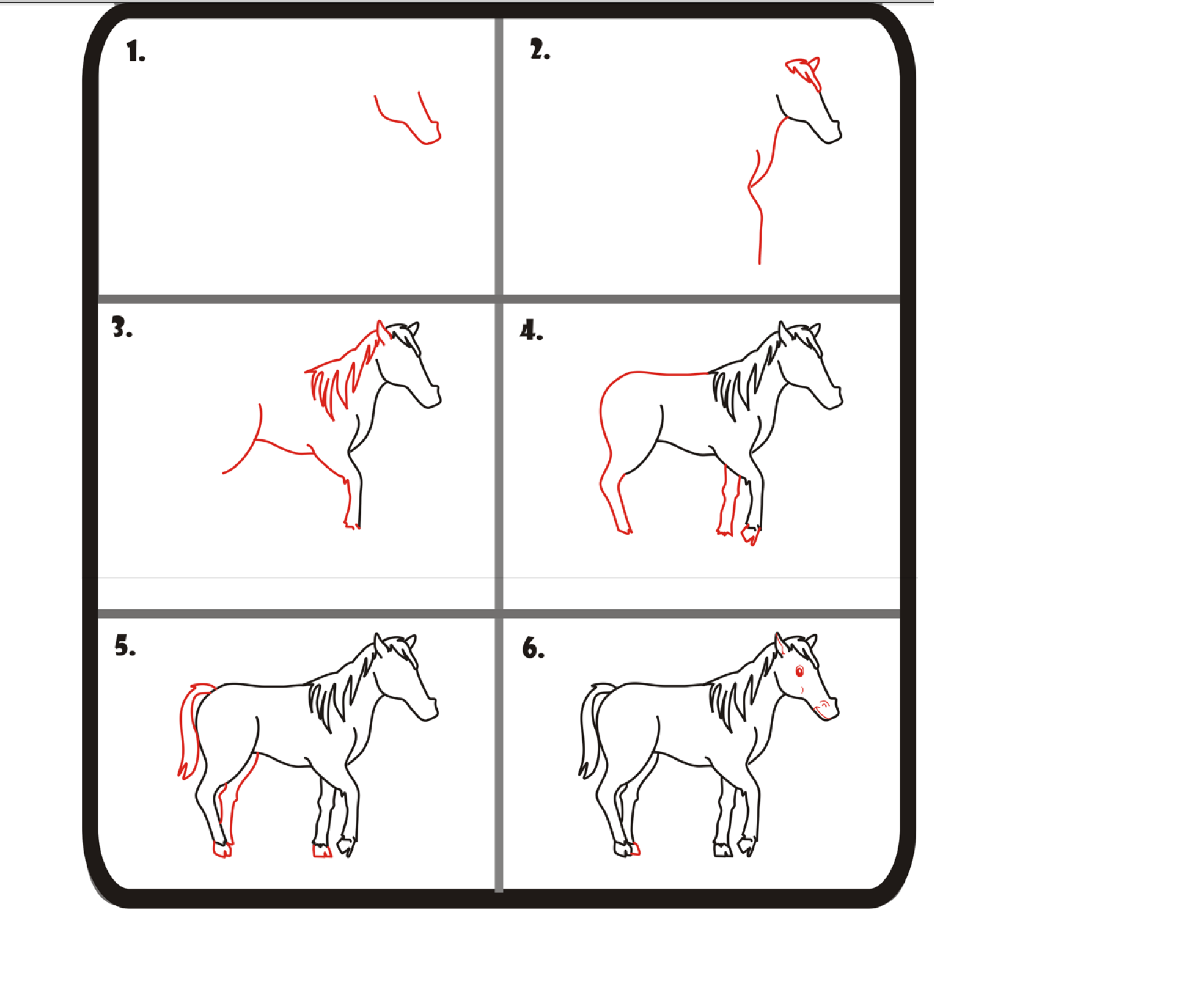 Easy Step By Step How To Draw A Horse How To Draw Horses