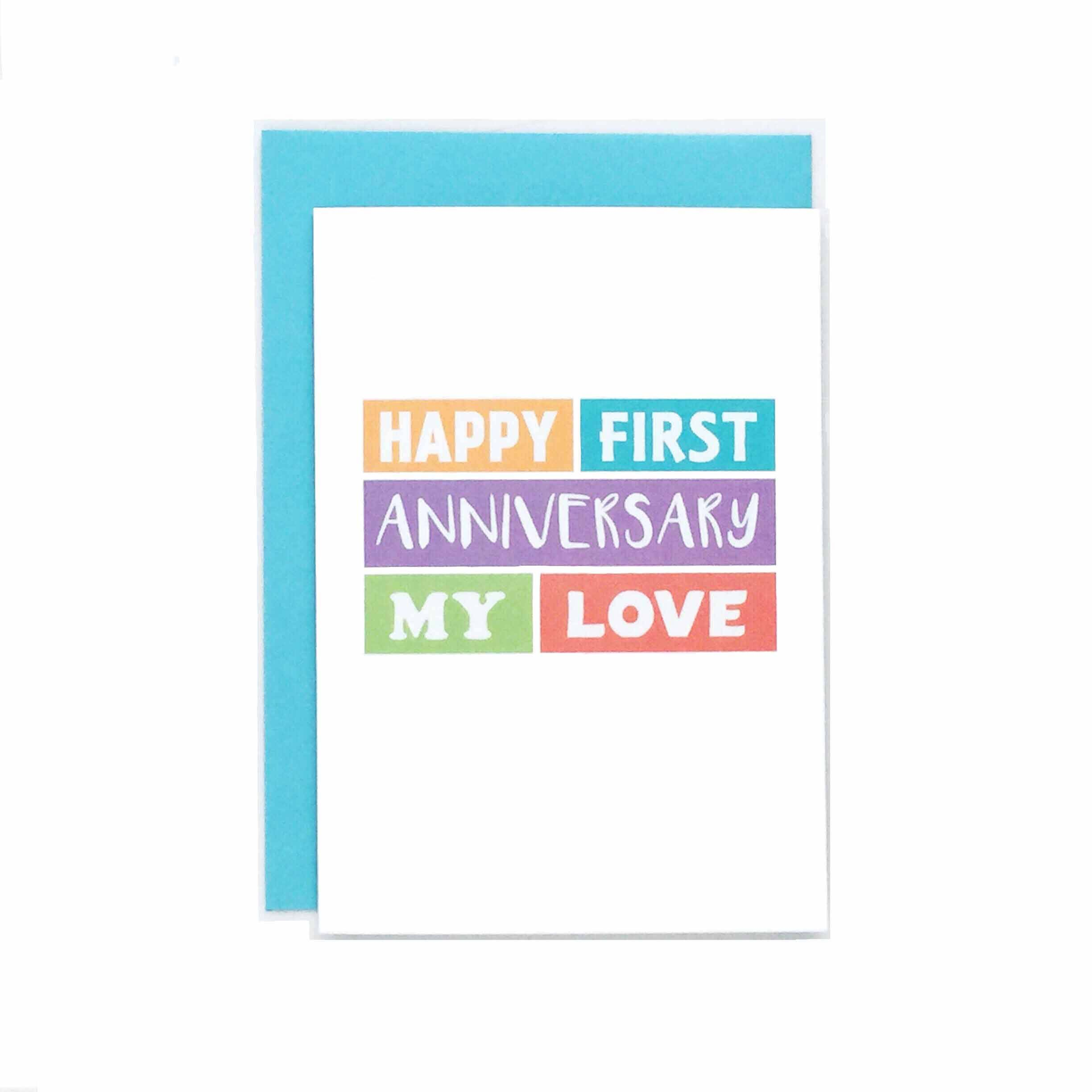 First Anniversary Card For Wife For Husband Happy