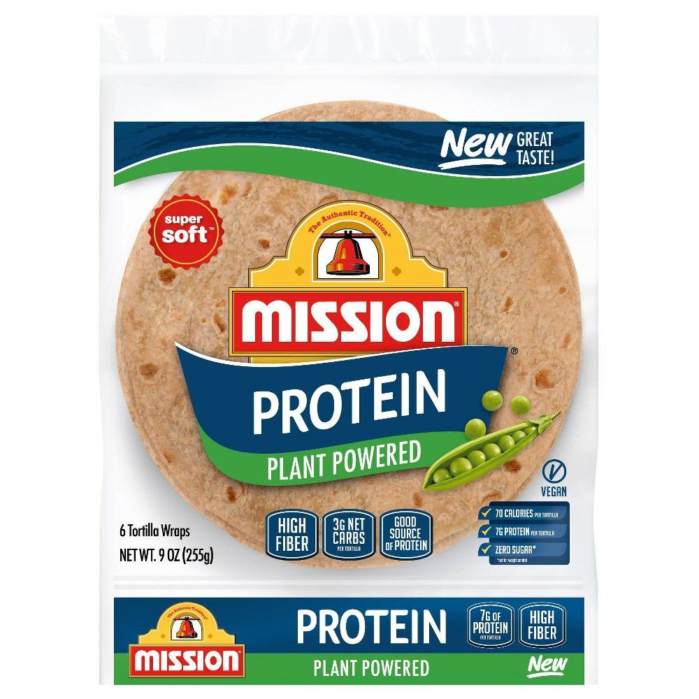 Mission Vegan Protein Plant Powered Tortillas 9oz 8ct In 2020 High Protein Recipes Protein Foods Recipes
