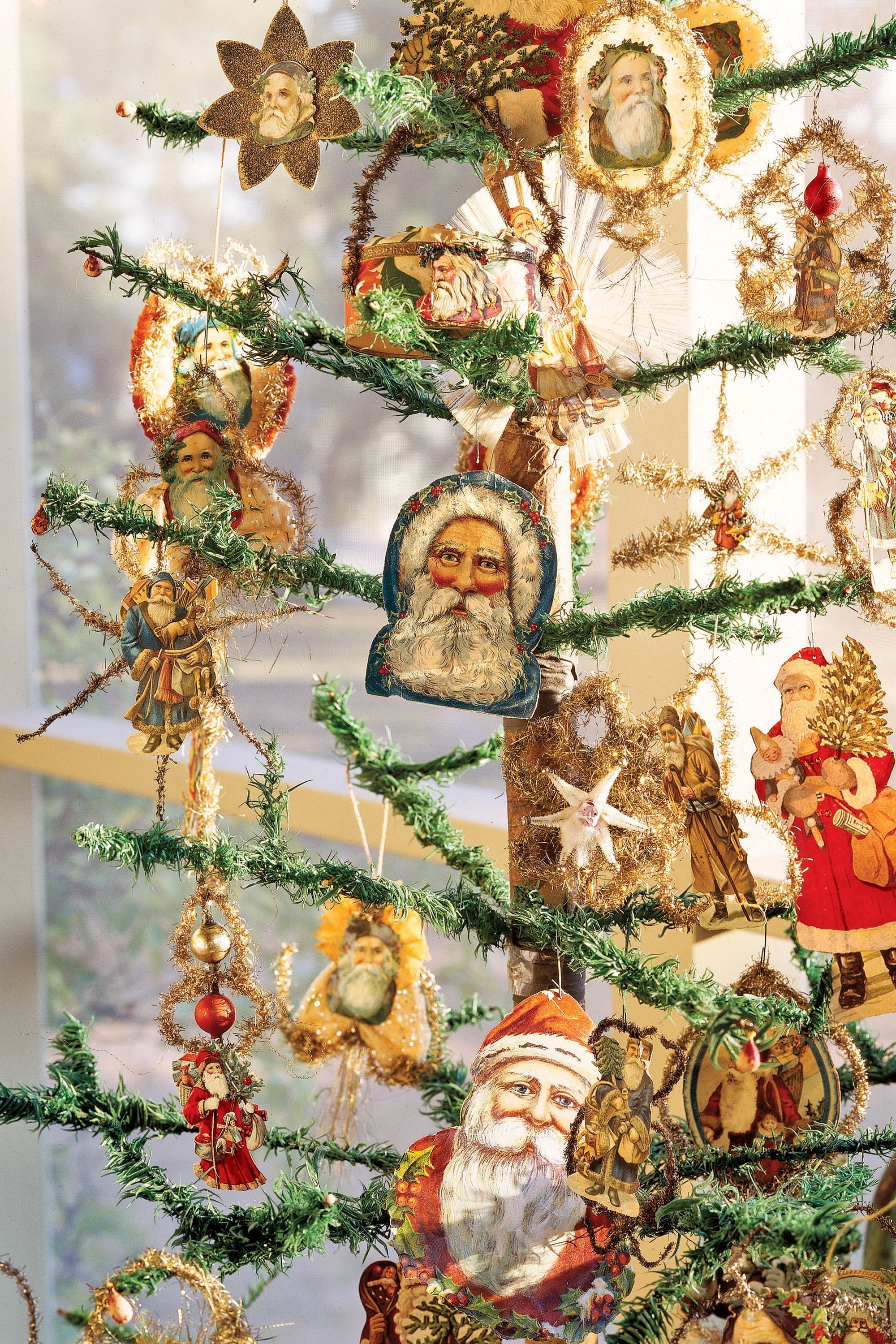 Victorian Santa Countryliving Antique Christmas Ornaments Crafts Paper
