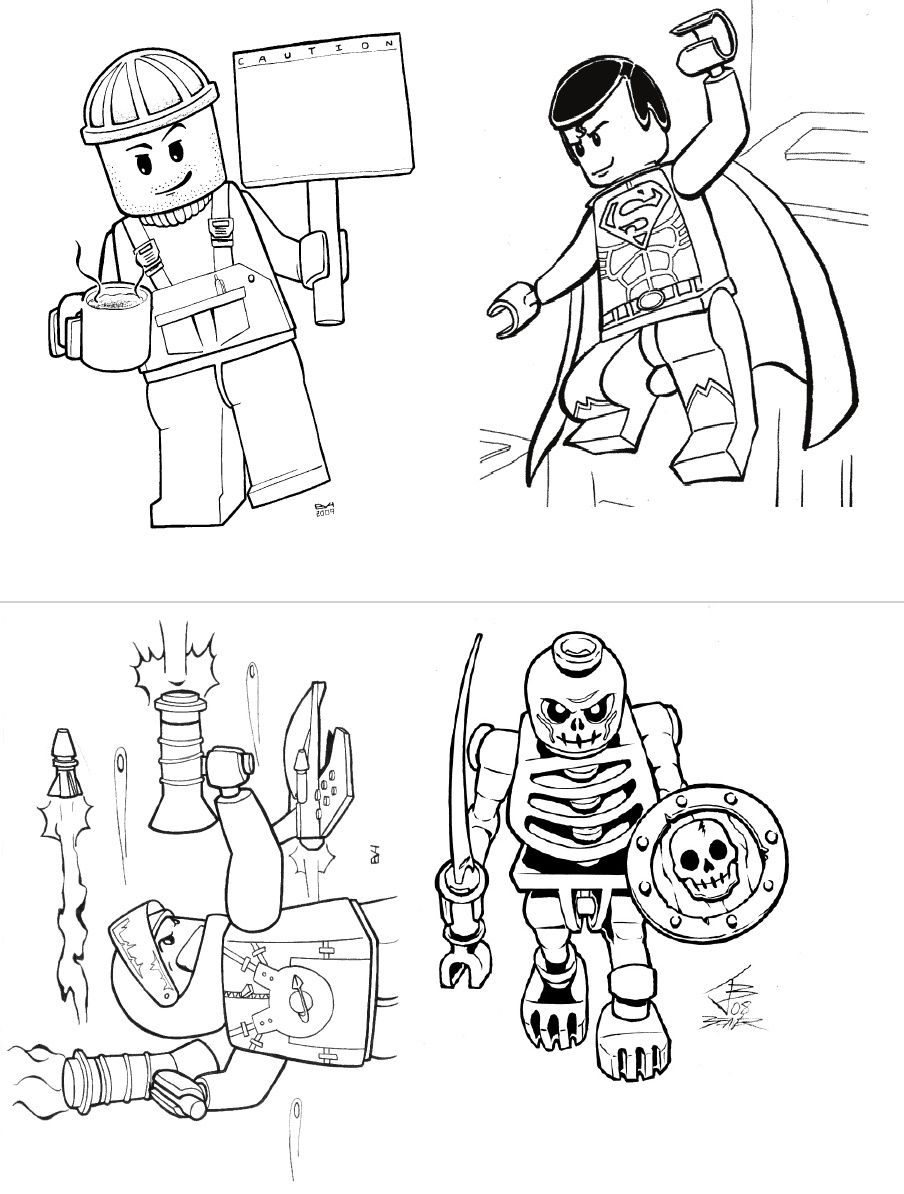 LEGO Colouring Book | Hacer creativo | Pinterest | Legos, Cumple y ...