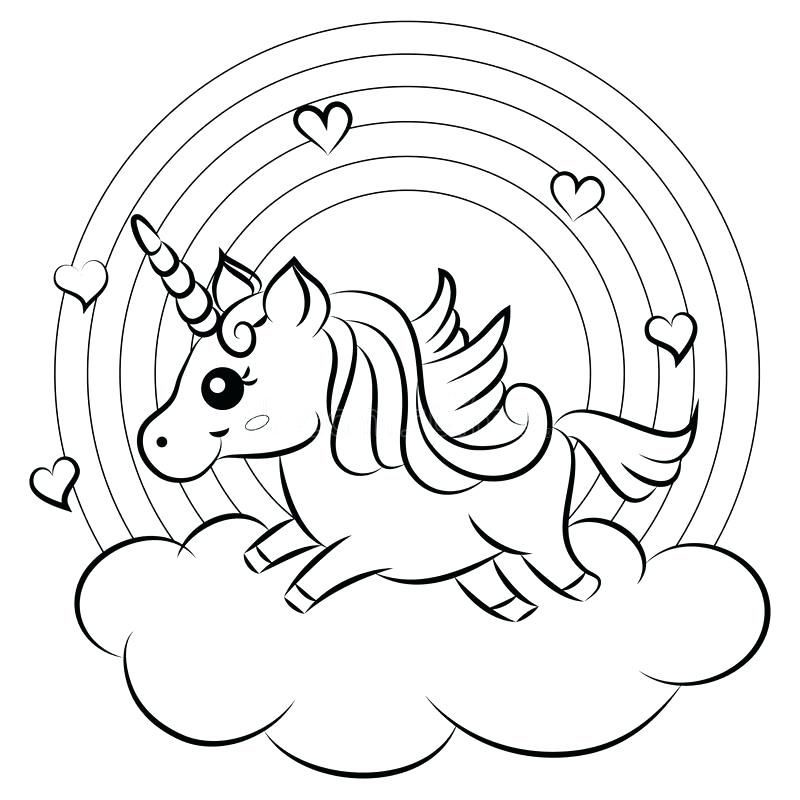 Coloring Pages For Kids Rainbow Nature Cute Extraordinary Cute