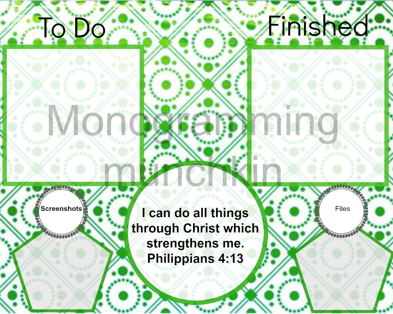 Personalized Functional Desktop Background/ Wallpaper.  Helps you keep track of everything and stay organized!! by MonogrammingMunchkin on Etsy