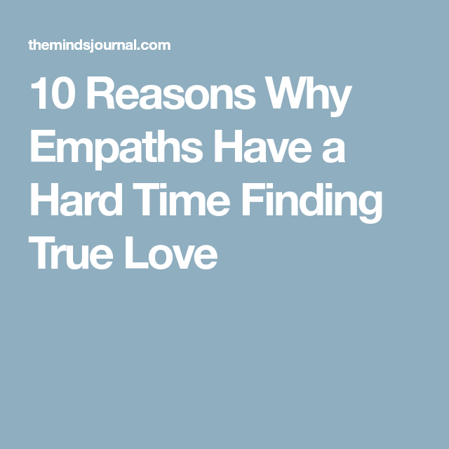 Empaths and true love