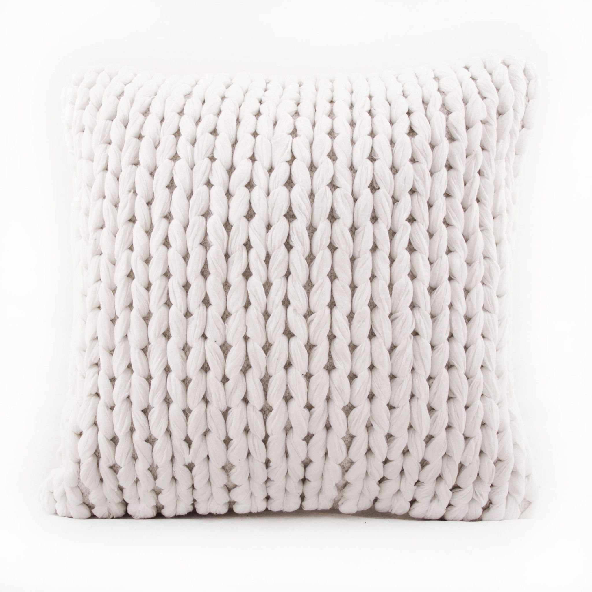 decorative cable knit throw pillow