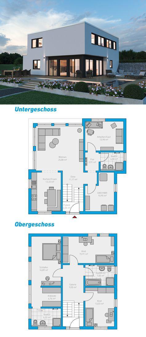 Die besten 25+ Hauspläne Ideen auf Pinterest 4-Zimmer-Haus-Pläne - interieur design idee stadthauses berlin