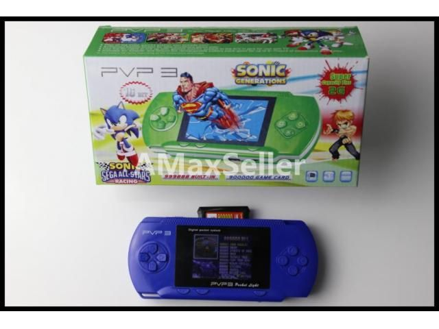 PVP 3 Hand held game system HOOKUP & PLAY ON TV! 100's of games San