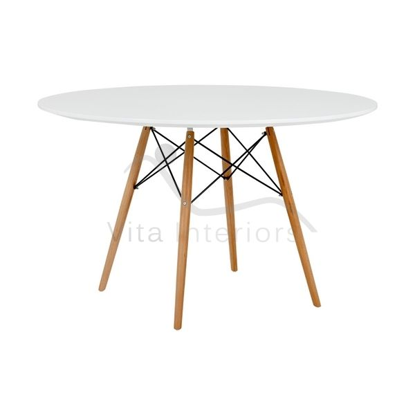 Superieur Round Glass Dining Table; Charles Eames Reproduction   Vita Interiors