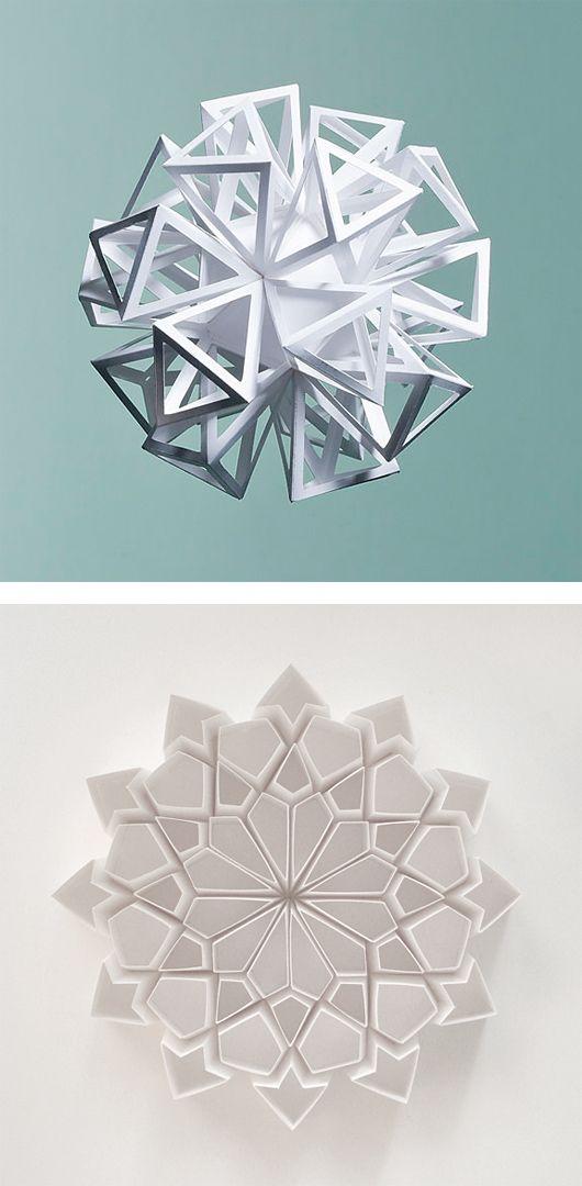 Folded Paper Sculptures by Matt Shlian   Inspiration Grid   Design Inspiration