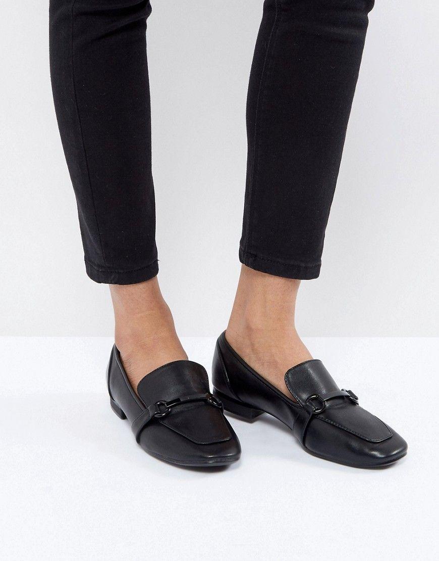 51e15c02ec7 Bershka Chain Detail Loafer - Black