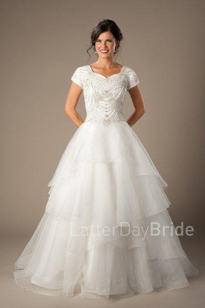 mormon wedding dresses at LatterDayBride, the Weismann in ivory ...