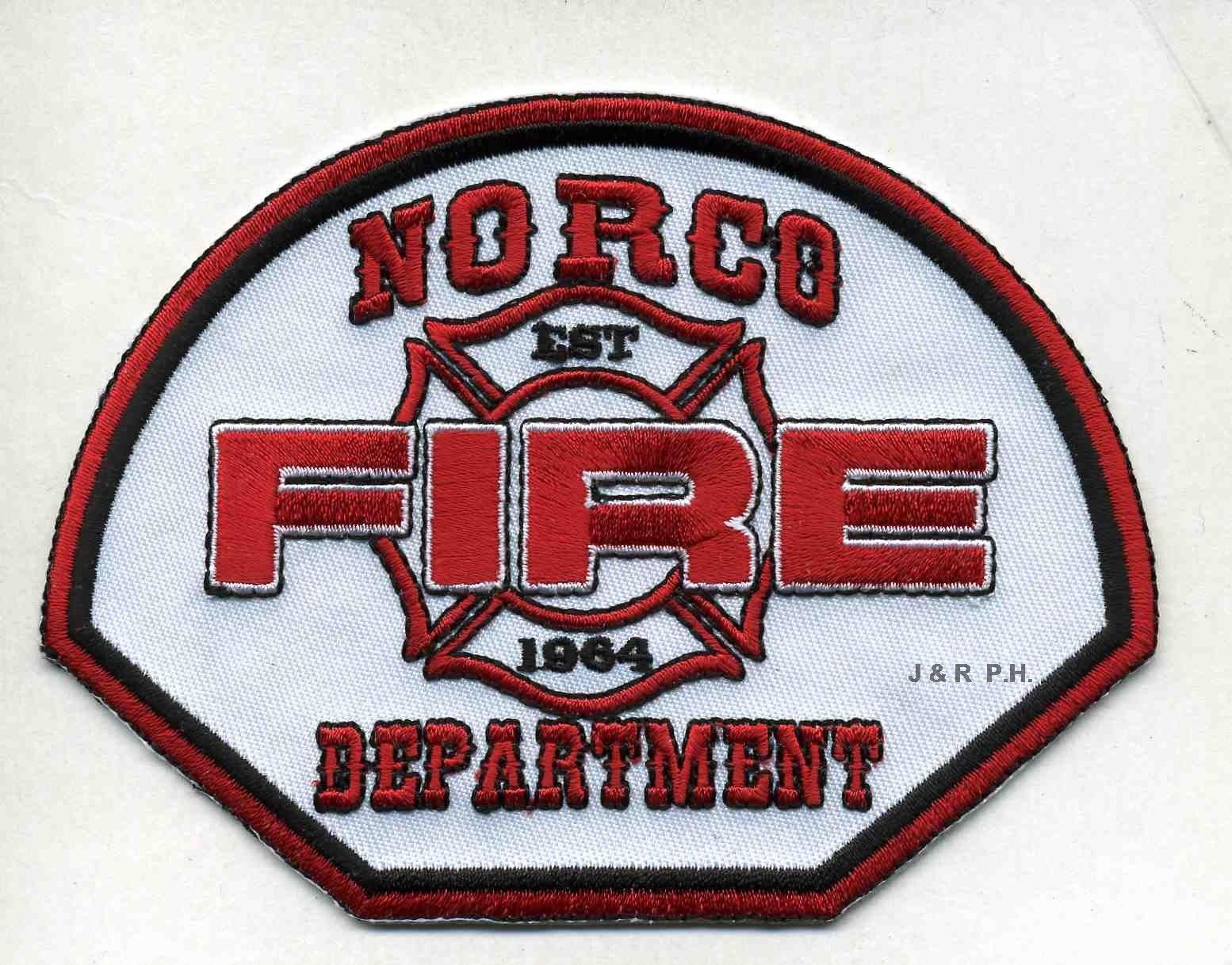 4 Norco 1964 Fire Dept Ca 45 X 35 Size Fire Patch Ebay