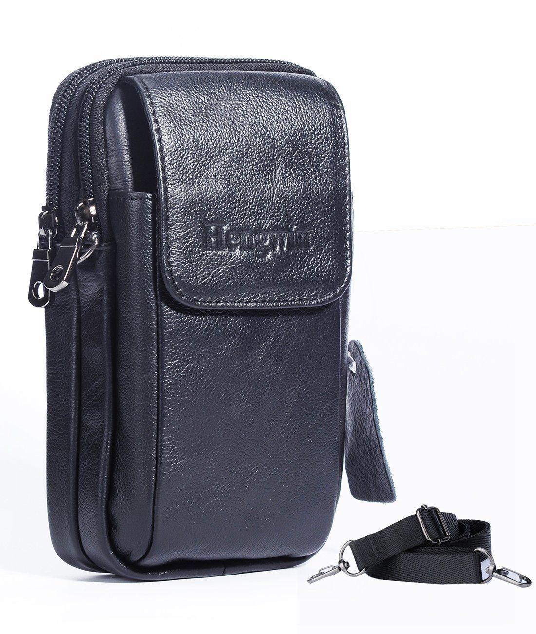 ac097f638673 Genuine Leather Vertical Men Cellphone Belt Loop Holster Case Belt ...