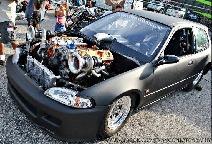 Twin turbo v8 civic 39 merica tuuuurrrrrbo for V8 honda civic