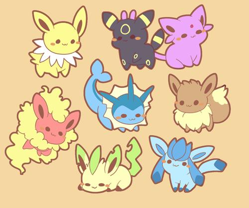 Eeveelutions Pokemons Lendarios Eevee Evolutions Pokemon Fan Cute