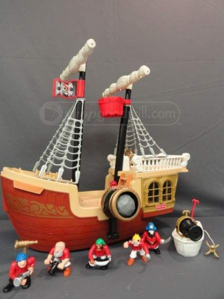 Fisher Price Great Adventures REPLACEMENT Parts Pirate Ship Boat Castle Western