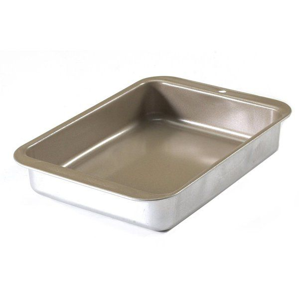 This hard-to-find Nordic Ware Casserole Pan is ideal for the toaster oven and conveniently makes meals for one or two people. At 1.5 QT this casserole pan is sized for easy storage and versatility with your toaster oven. Non-stick coated, it allows for easy release and effortless cleanup. It also bakes perfect portion desserts. The pan is made of aluminized steel with a nonstick coating to make cleanup a breeze. Proudly made in the USA by Nordic Ware.