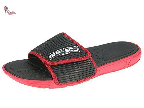 Beppi homme tongs pantoufles de piscine pantoufles de plage avec velcro  2153901, noir, 42 6ad0eee2f9f7