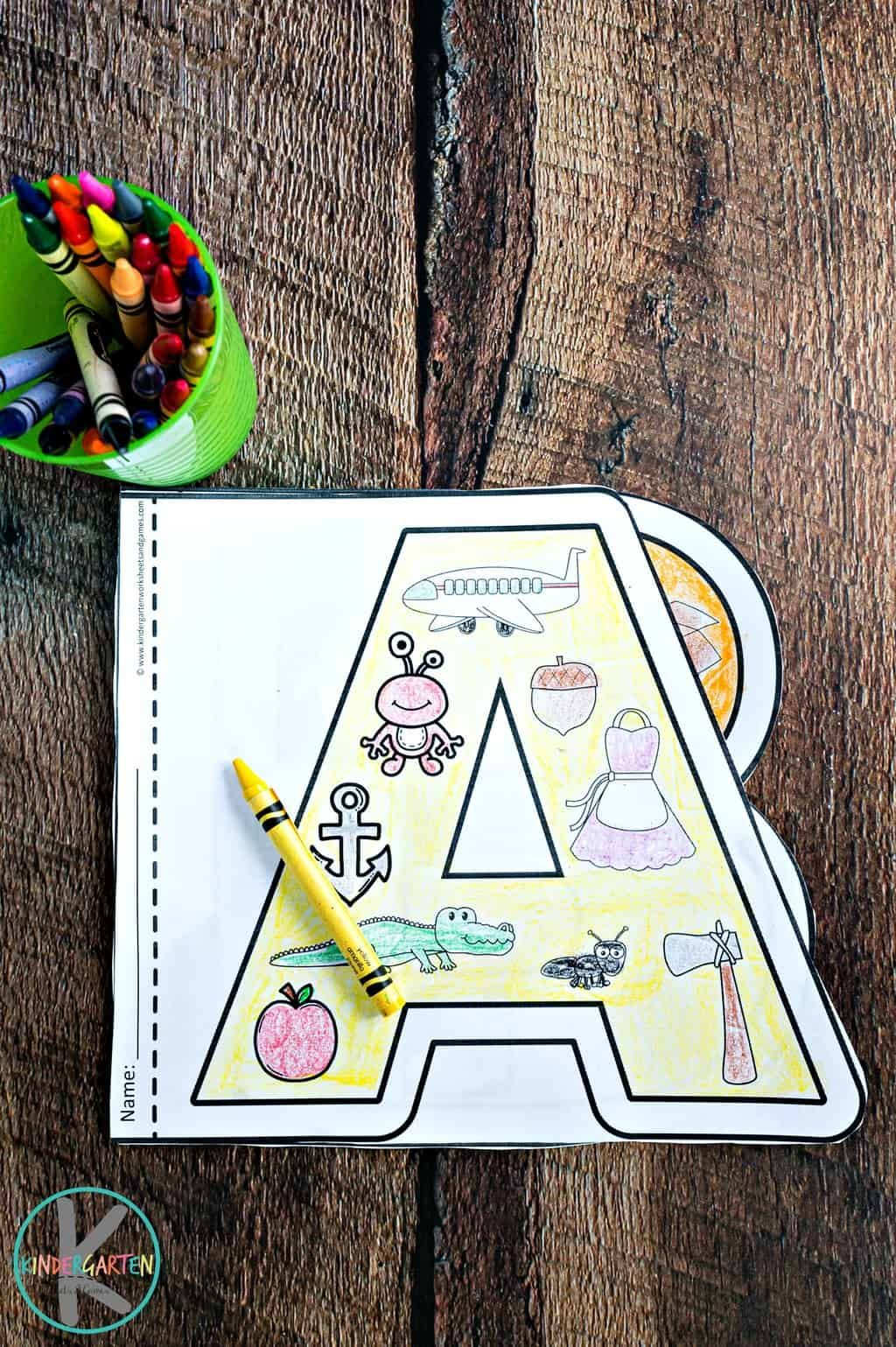 Alphabet Coloring Worksheets For Kindergarten In