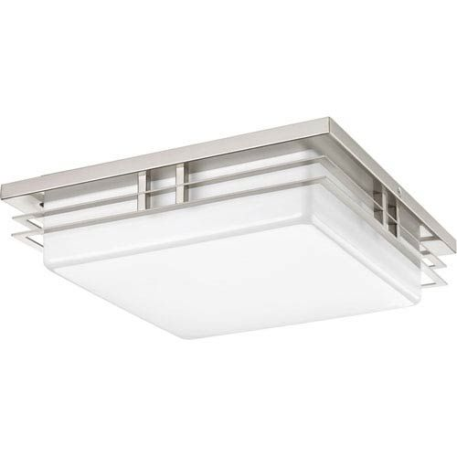 Brand SKU: P3448-0930K9 - Can be either ceiling or wall mounted. - White Glass - Includes 6-Inches of wire. - Five year warranty - Bulb (s) included. Progress Lighting - 9434480930K9 | Progress Lighting P3448-0930K9 P3448-0930K9 Helm 14 in. Two-Light Energy Star LED Flush Mount in Brushed Nickel - Brushed, Mission | Bellacor