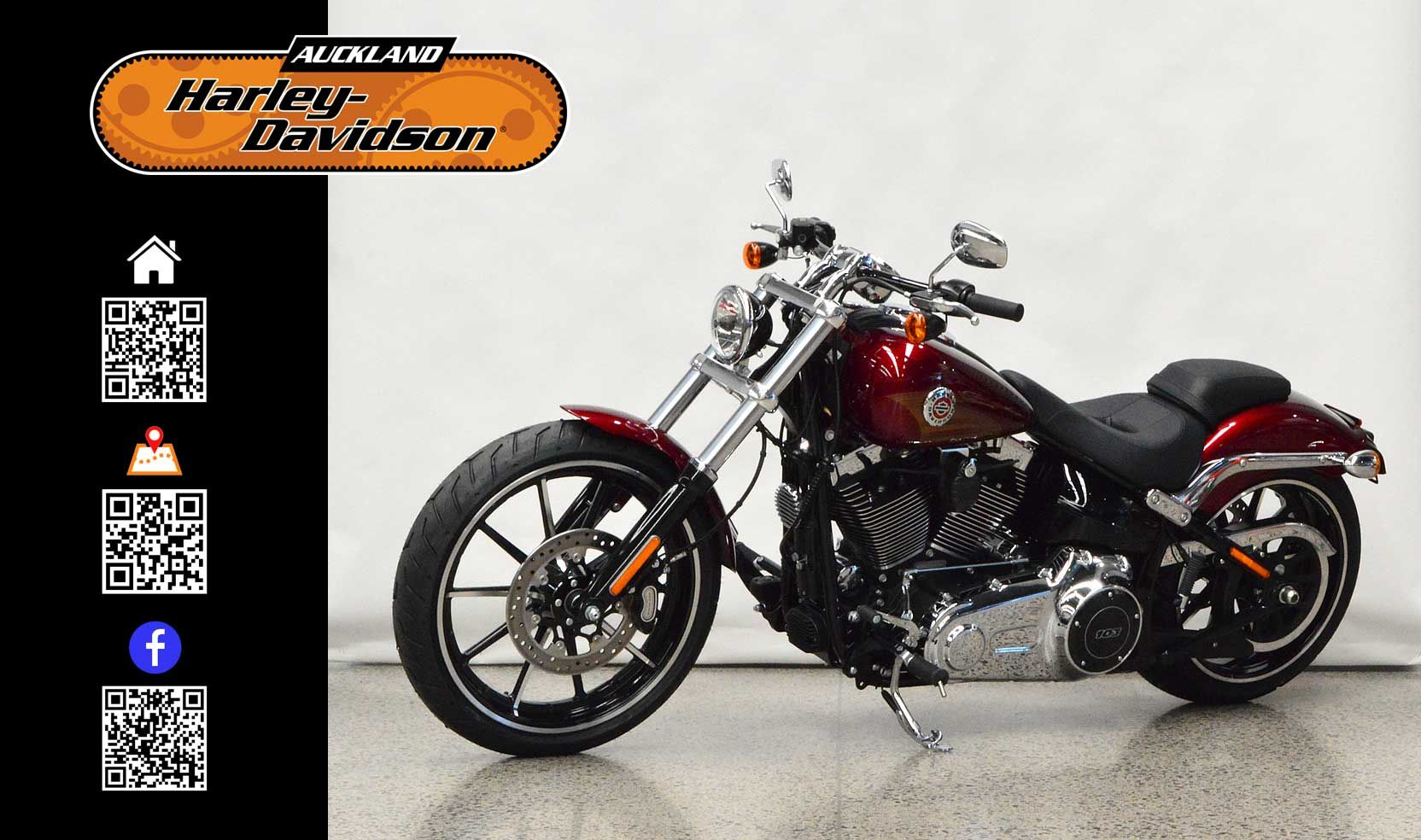 2016 HARLEY-DAVIDSON FXSB in Velocity Red Sunglo At Auckland Motorcycles & Power Sports,  New Zealand www.amps.co.nz