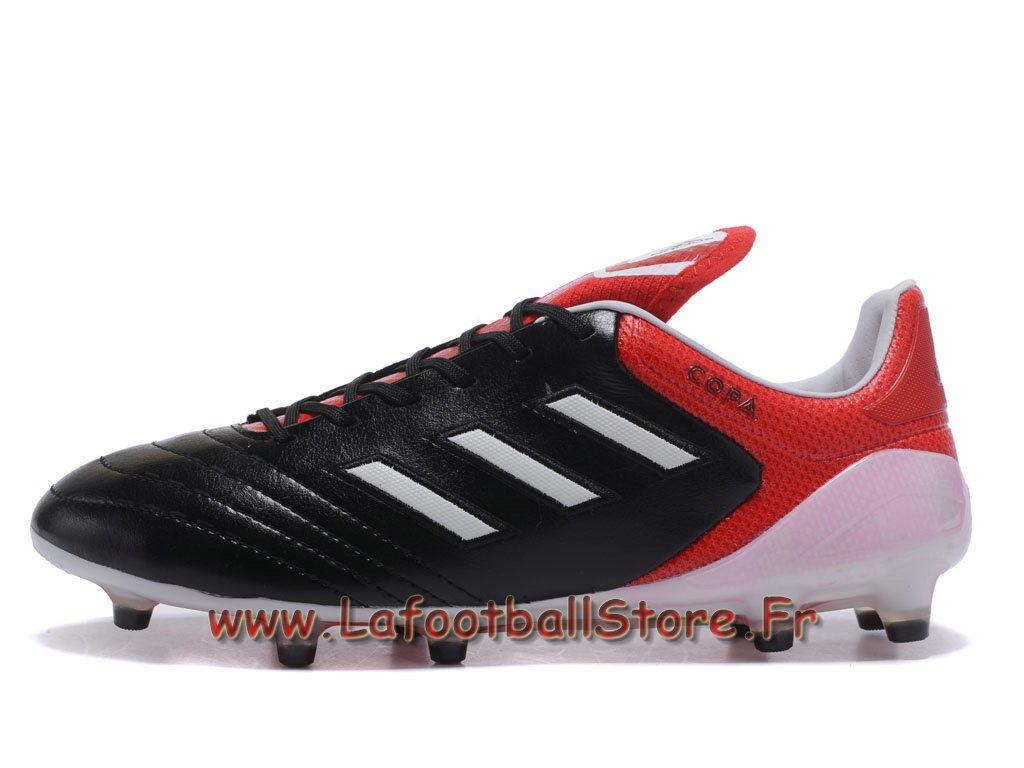 low cost 40362 ade5d Adidas Homme Chaussure de FootBall Copa 17.1 FG Noire Rouge Adidas Copa Prix