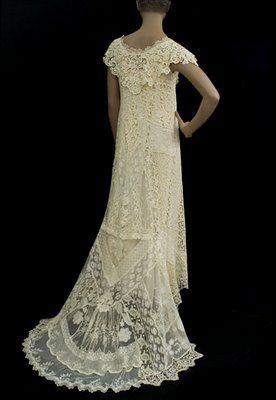 Wedding Dress Of Mixed Lace 1920s Wedding Dresses Vintage Vintage Gowns Vintage Dresses