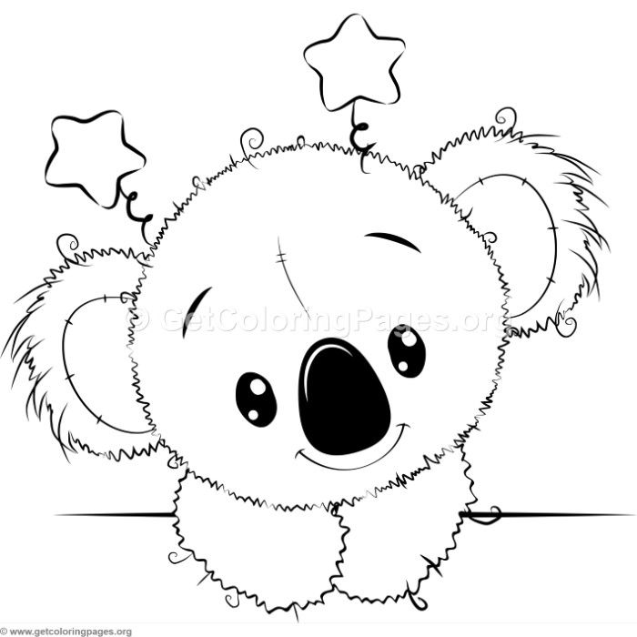 Cute Koala 5 Coloring Pages Imprimibles Dibujos Para
