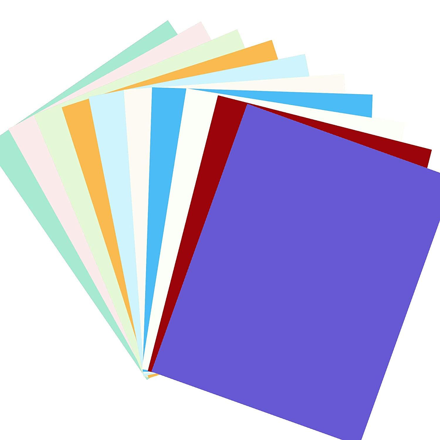 Diy Paper Cardstock 50 Sheets 10 Vivid Color Cardstock A4 Size 230gms Craft Paper For Card Making Scrapb Diy Scrapbook Diy Craft Projects Halloween Party Decor