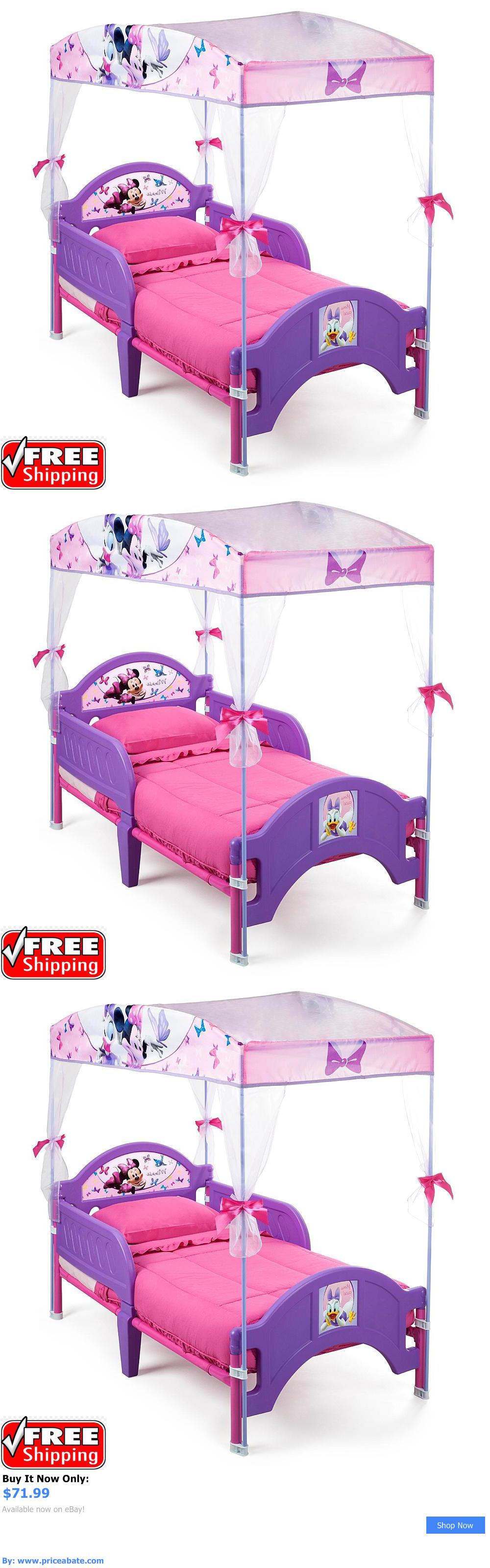 Kids Furniture: Toddler Bed For Girls With Canopy Minnie Mouse Daisy Duck Disney Princess New BUY IT NOW ONLY: $71.99 #priceabateKidsFurniture OR #priceabate