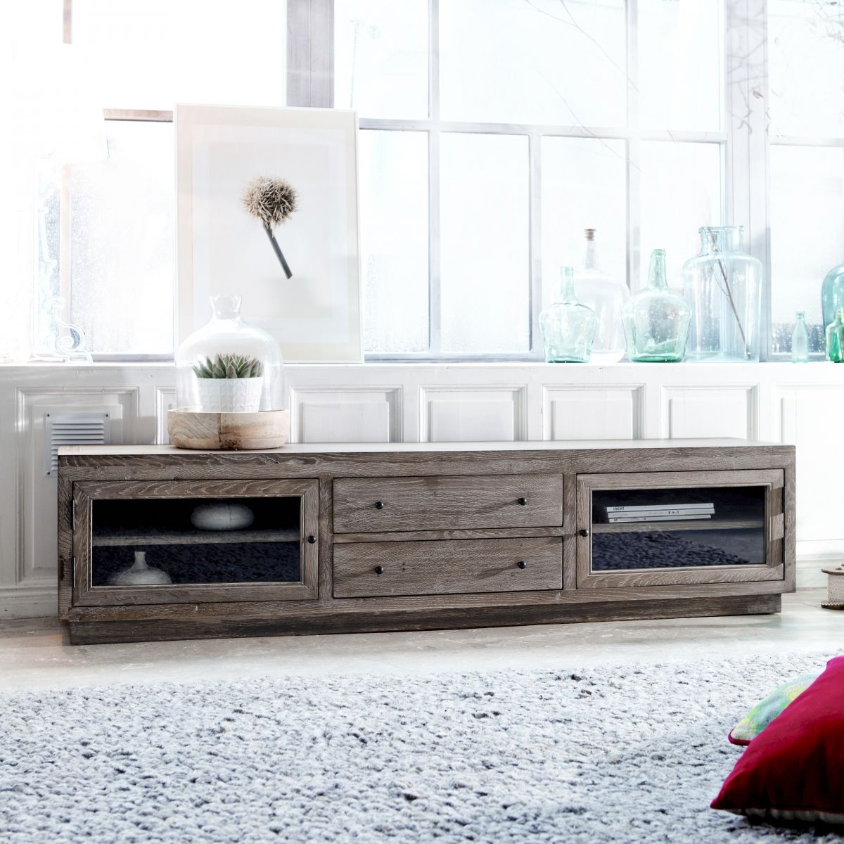 Oak Tv Stand Pablo Tv Stand Tikamoon Tv Unit Pinterest # Meuble Tv A La Mode