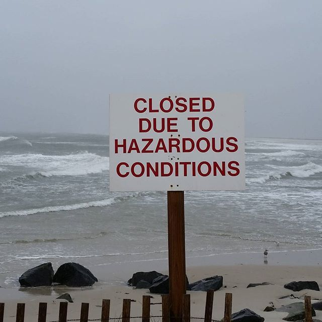 Took a cruise to the other end of the island. holgate. The rain is really coming down now. And it's so windy I - #Goaway, #Holgate, #Hurricane, #Island, #Joaquin, #Lbi, #Mystic, #Offlimits, #Weather, #Windy
