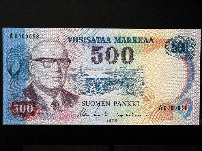 Hormista löytyneet rahat olivat tällaisia 500 markan seteleitä.