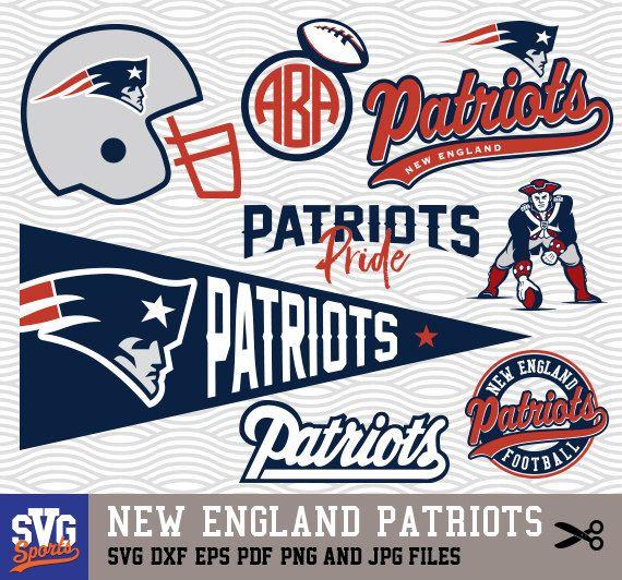 New England Patriots Svg Logos Monogram Silhouette By Svgsports Patriots Logo New England Patriots Patriots Team