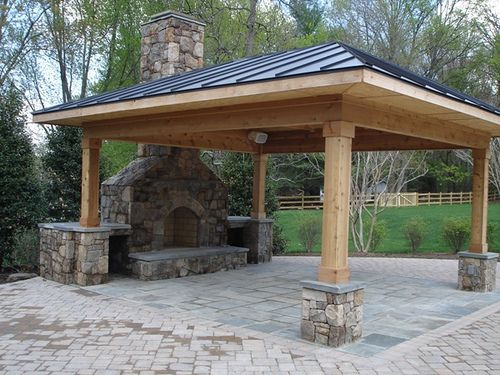 Outdoor Patio And Fireplace Dream Backyards Pinterest Outdoor