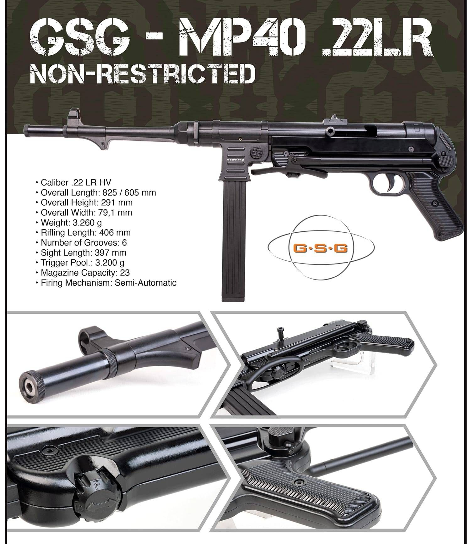GSG-MP40  22lr Non Restricted Preorder | BC Firearms Academy