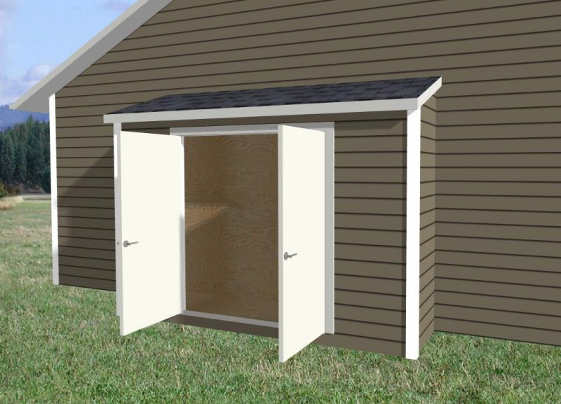 Narrow storage shed along side of house shed design for Shed styles