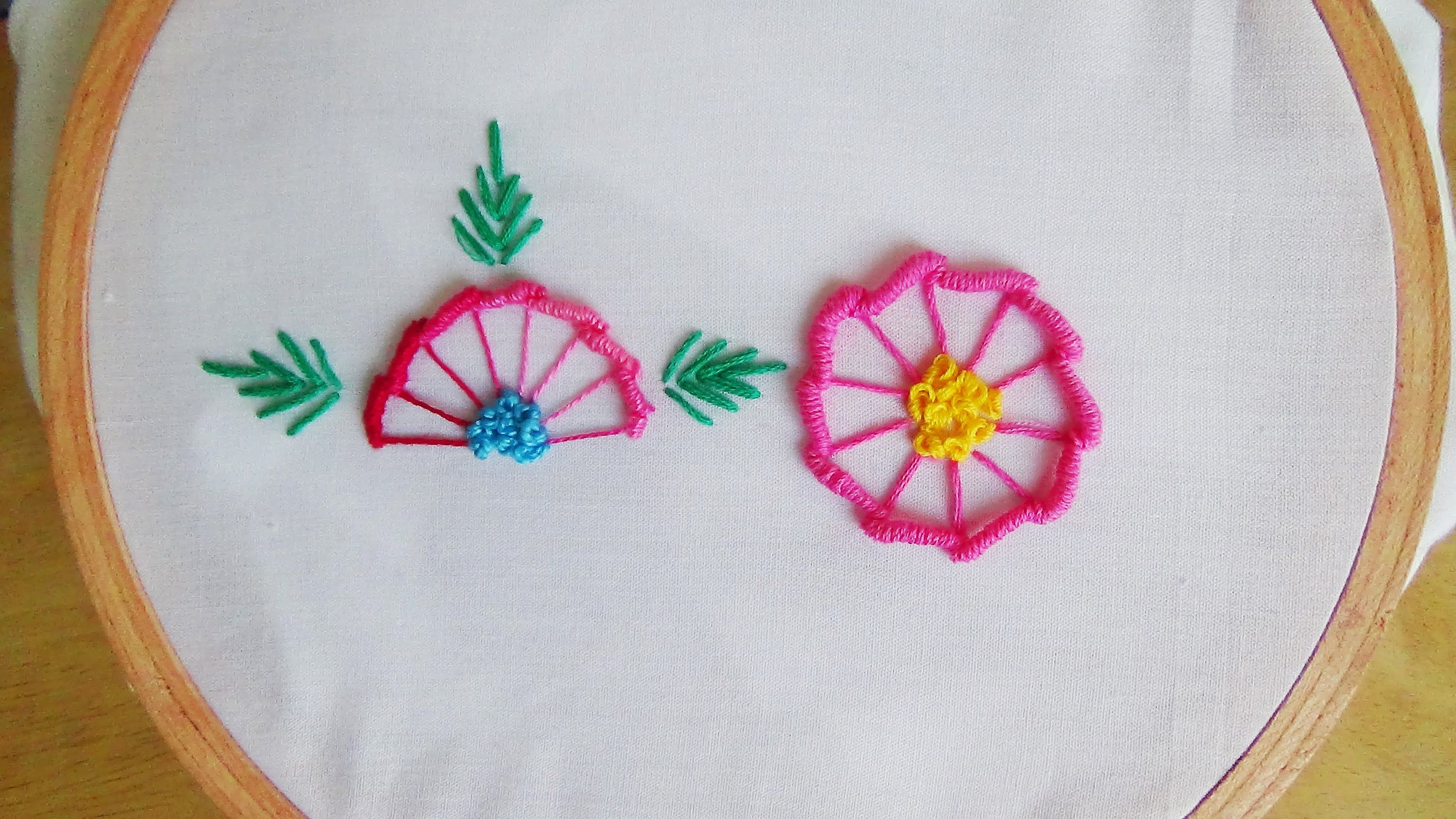 Hand Embroidery: Bullion Knot and Blanket Stitch (Flowers ...