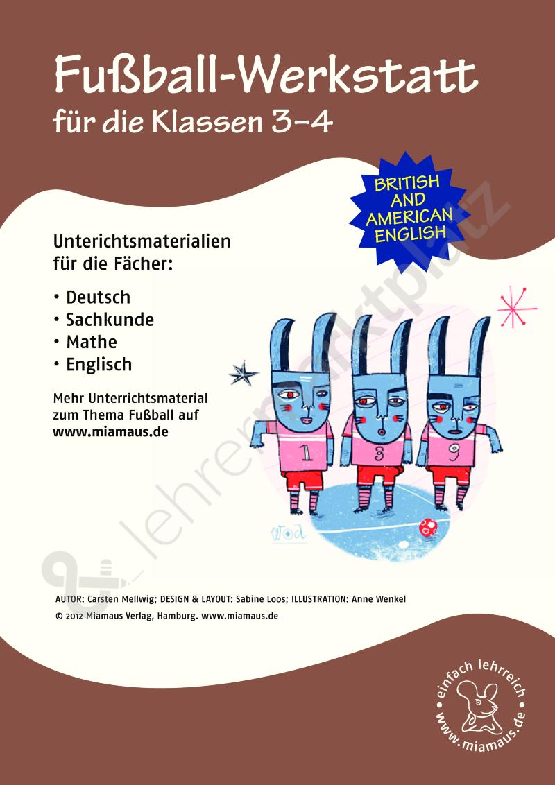 Fußball-Werkstatt Klasse 3 und 4 (fächerübergreifend) – Deutsch ...