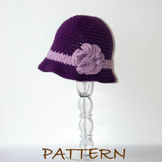 Crochet Hat Pattern Claudette Crochet Cloche by hookedandchained ...