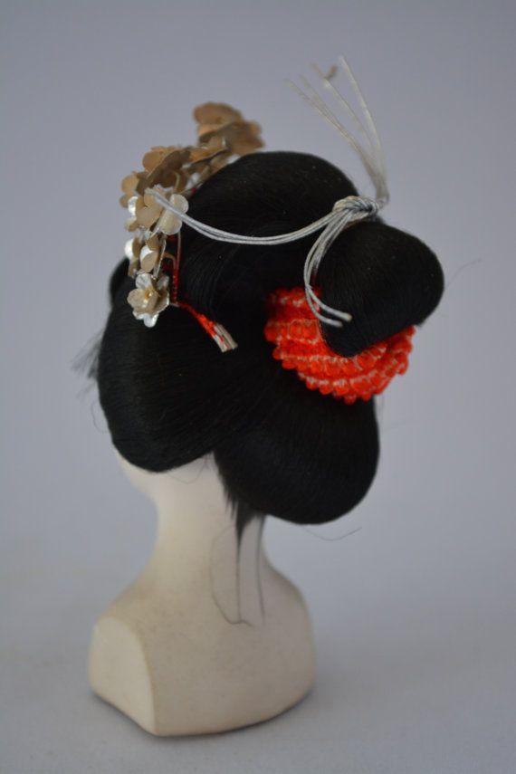 Geisha Hairstyle Model Japanese Hairdressing Vintage Maiko Doll S Head 11 Geisha Model Hair Hair Ornaments