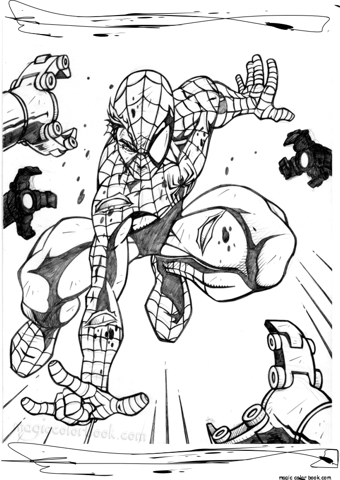 Spiderman coloring pages Magic color book | ΖΩΓΡΑΦΙΚΗ | Pinterest ...