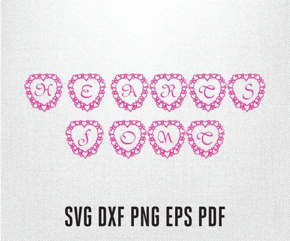 Download SVG font, heart font, Heart script letters, Heart vector ...