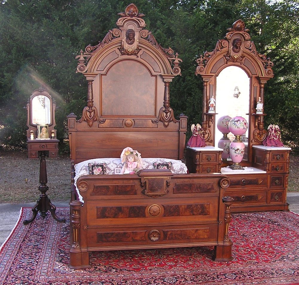 Best Beautiful Victorian Walnut Ansonia Head Bedroom Set Victorianrenaissancerevival Johnjelliff 640 x 480