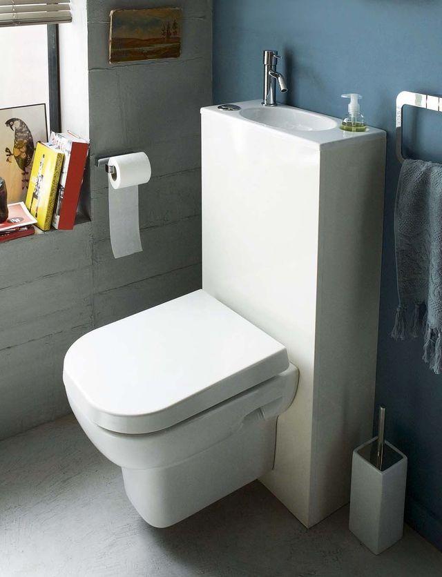 Wc Toilettes Lavantes Sans Bride Lave Mains Integre