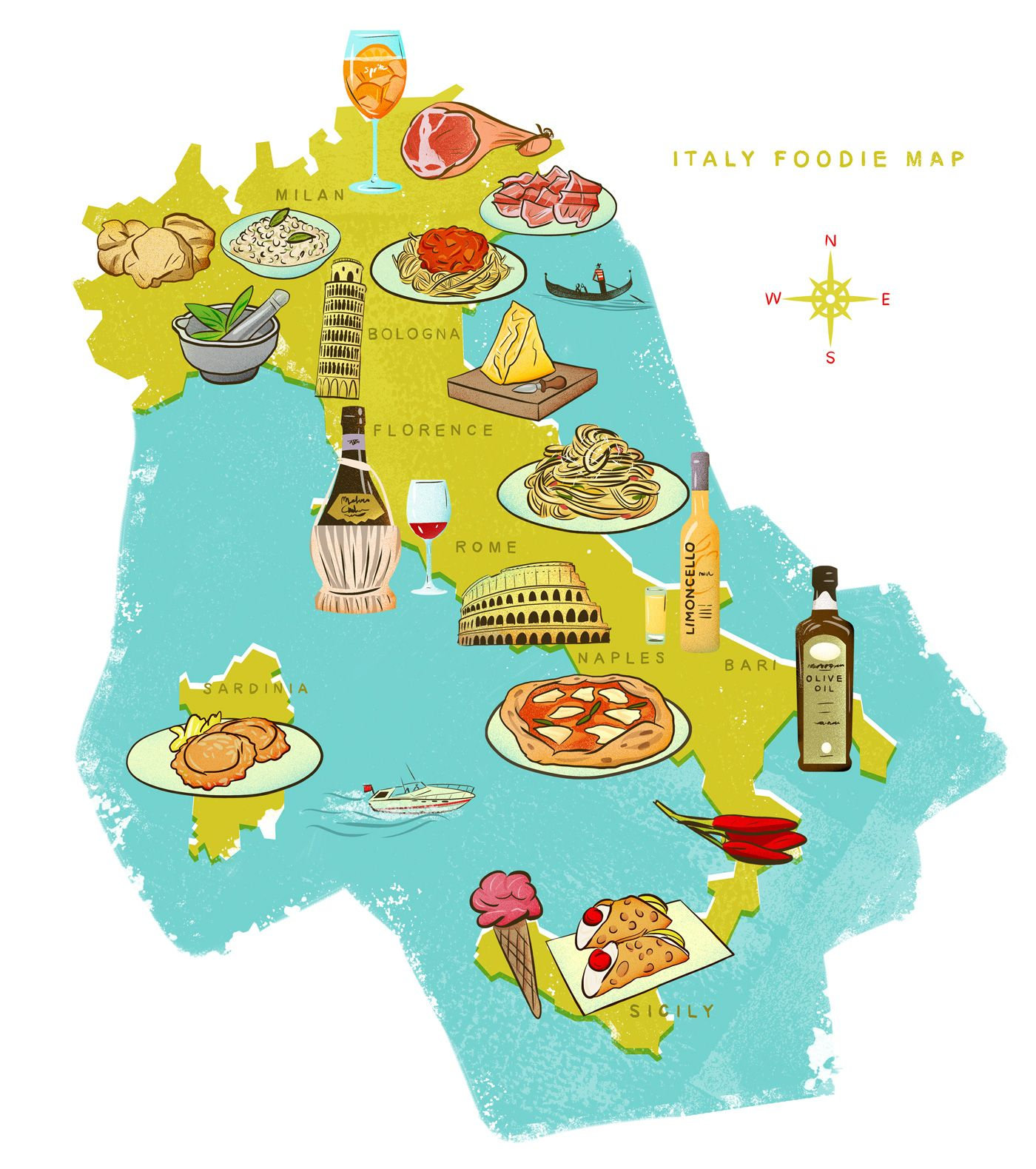 Italy Food Map