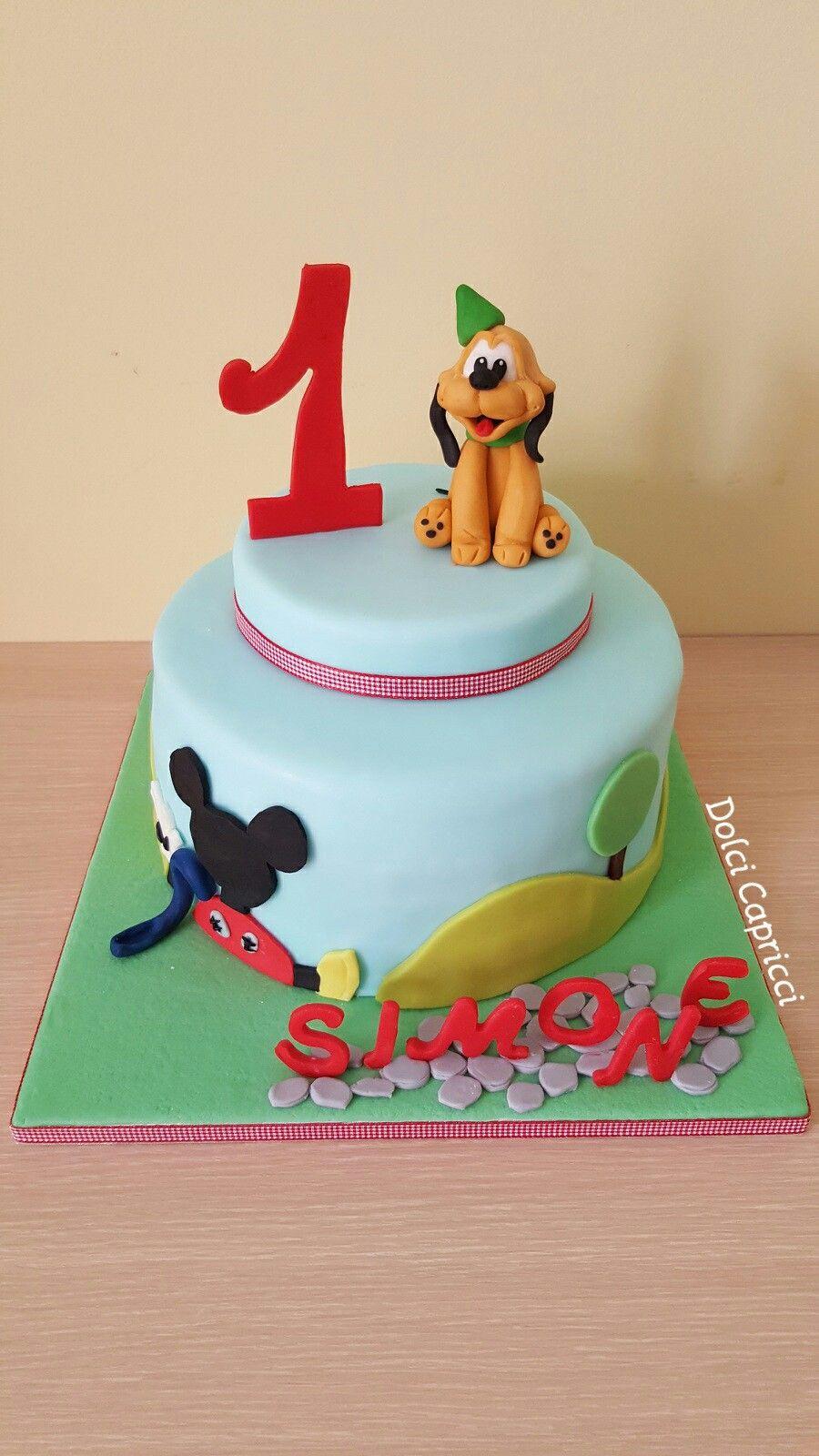 Baby Pluto birthday cake
