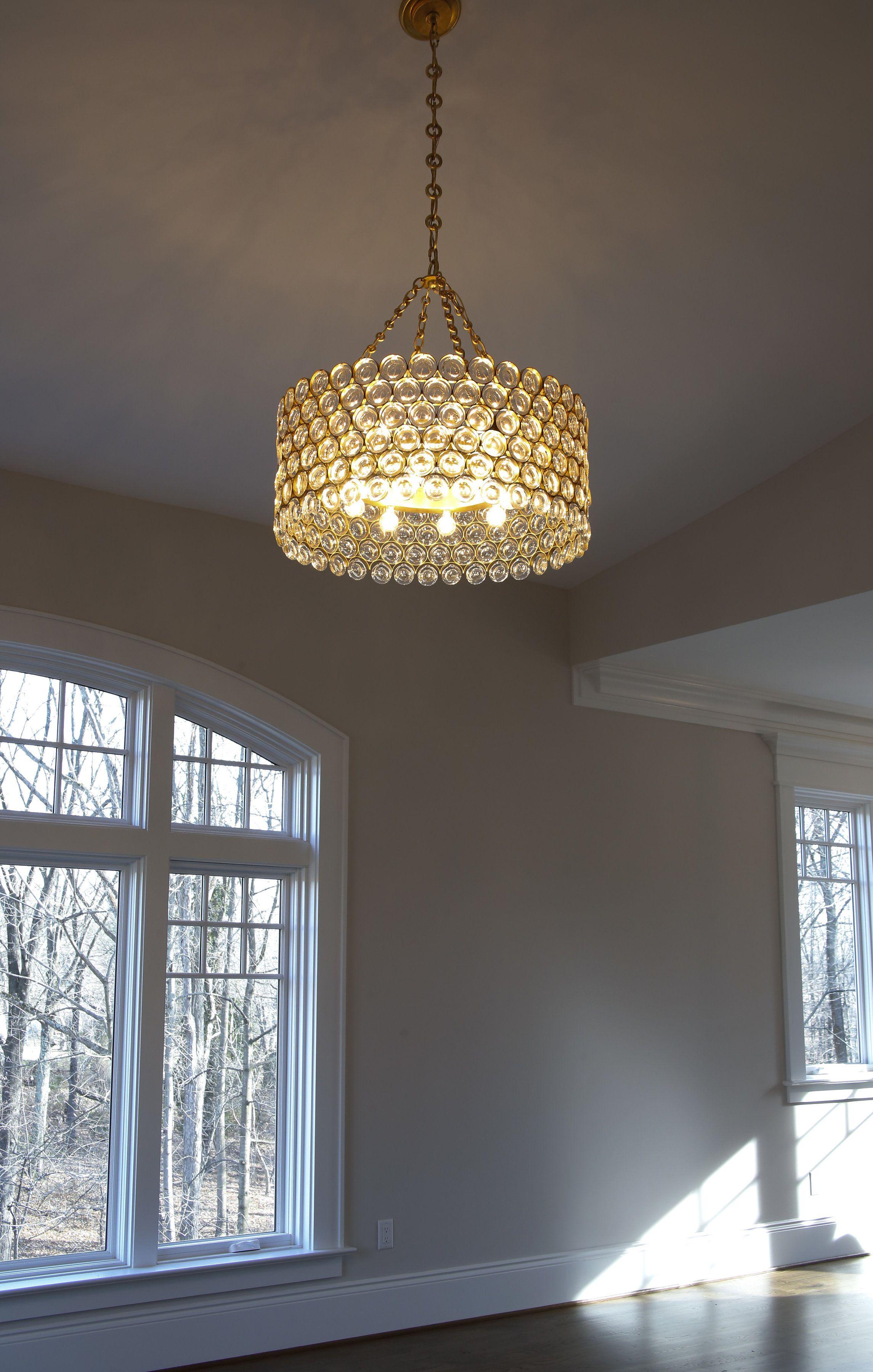 Lighting Design By Erin Schwartz Private Home In Clifton Virginia Still Under Con Contemporary Ceiling Light Hanging Bedroom Lights Natural Bathroom Interior