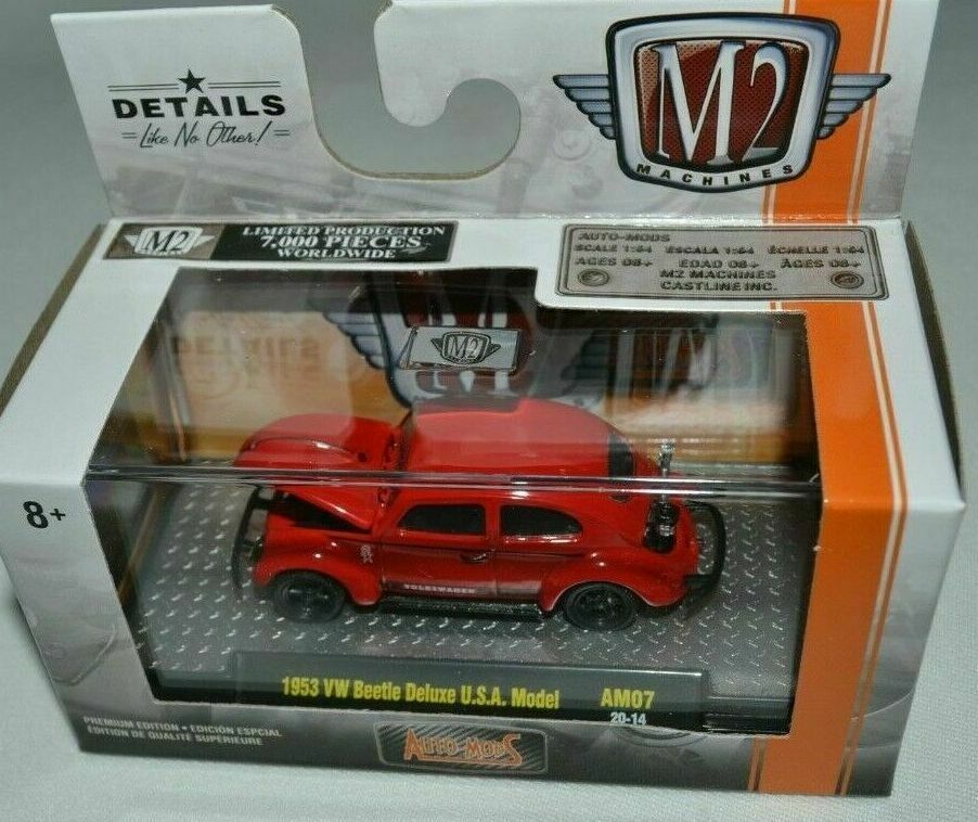 M2 Machines Auto Mods Volkswagen AM07 1953 VW Beetle Deluxe USA Model CHASE